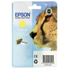 Epson T0714 yellow inkjet cartridge for use with Stylus D78/DX4000/DX4050/DX5050/DX6000/DX6050/DX7000F printers. (Cheetah) EP32975