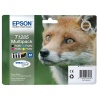 Epson T1285 Four Colour Inkjet Cartridge Standard Yield 16.4ml KCMY Multipack. For use in Epson Stylus Office BX305F, S22, SX125, SX420W and SX425W printers. (Fox) EP46543