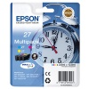 Epson Alarm Clock 27 DURABrite Ultra Multipack Ink Cartridge (Cyan/Magenta/Yellow) Blister for WorkForce WF-3620DWF/WF-7610DWF/WF-3640DTWF/WF-7620DTWF/WF-7110DTW Printers (EP53504)