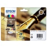 Epson 16  T1626 Multi Pack 4 Colour Cartridges (Black/Cyan/Magenta/Yellow) Non Tagged for Epson WorkForce WF-2010DW/WF-2510WF/WF-2520WF/WF-2530WF/WF-2540WF (Pen & Crossword) EP62640