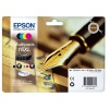 Epson 16XL  T1636 Multi Pack 4 Colour Cartridges (Black/Cyan/Magenta/Yellow) Non Tagged for Epson WorkForce WF-2010DW/WF-2510WF/WF-2520WF/WF-2530WF/WF-2540WF (Pen & Crossword) EP63640 ****