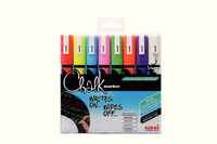 Uni Chalk Markers Medium Assorted Pk8 153494341