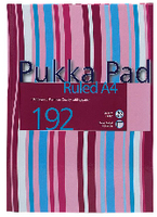 Pukka Pad Casebound Book A4 Assorted Stripe Design 192 Pages Ruled Feint RULSTRA4