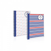 A6 Twinwire Notebook (2 Designs - Spots or Stripes)