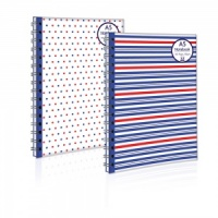 A5 Twinwire Notebook (2 Designs - Spots or Stripes)