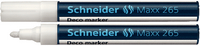 Schneider Deco Liquid Chalk Marker Bullet Tip 265 White 1-3mm 126549