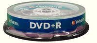 Verbatim DVD+R 16X Non-Printable Spindle Pk 10 43498