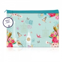 Vintage (Blue) Large Flat Pencil Case