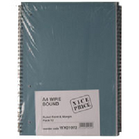 A4 Spiral Pad 80 Leaf WX01072 (Individual or Bulk Pack Available)