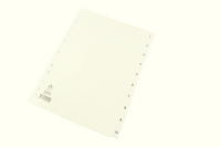Index A4 1-10 Polypropylene White WX01353