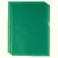 Cut Flush Folder Green A4 Pk 100 WX01488