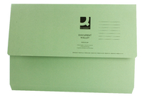 Document Wallet 220gsm Foolscap Green (Pk 50) WX23012A