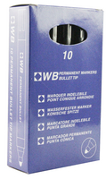Permanent Marker Bullet Tip Black WX26045A (Pack of 10)
