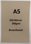 Brownboard - Brown Kraft / Craft / Art Board (Select Size, Weight & Qty)